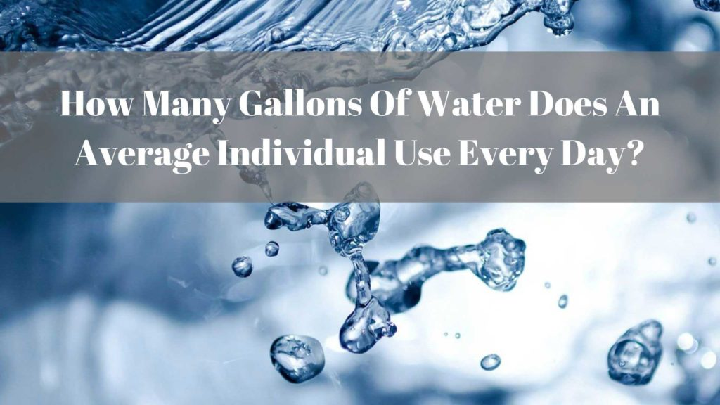 How Many Gallons Of Water Does An Average Individual Use Every Day