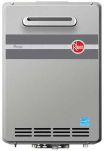 Rheem RTGH-95XLP Prestige Propane Outdoor Whole House Low NOx Condensing Tankless 9.5 GPM Water Heater