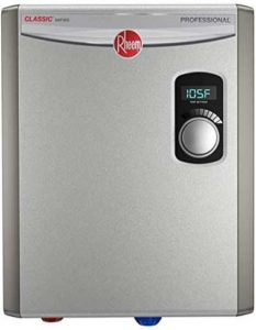 Rheem RTEX -18 Tankless water heater for tiny house